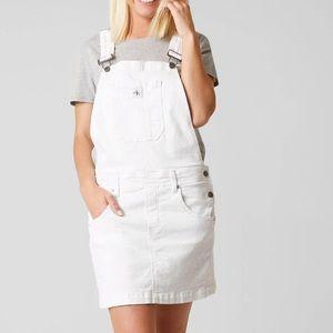 White Calvin Klein overall dress, Size S